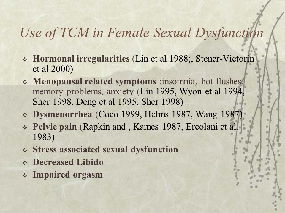 Use of TCM in Female Sexual Dysfunction