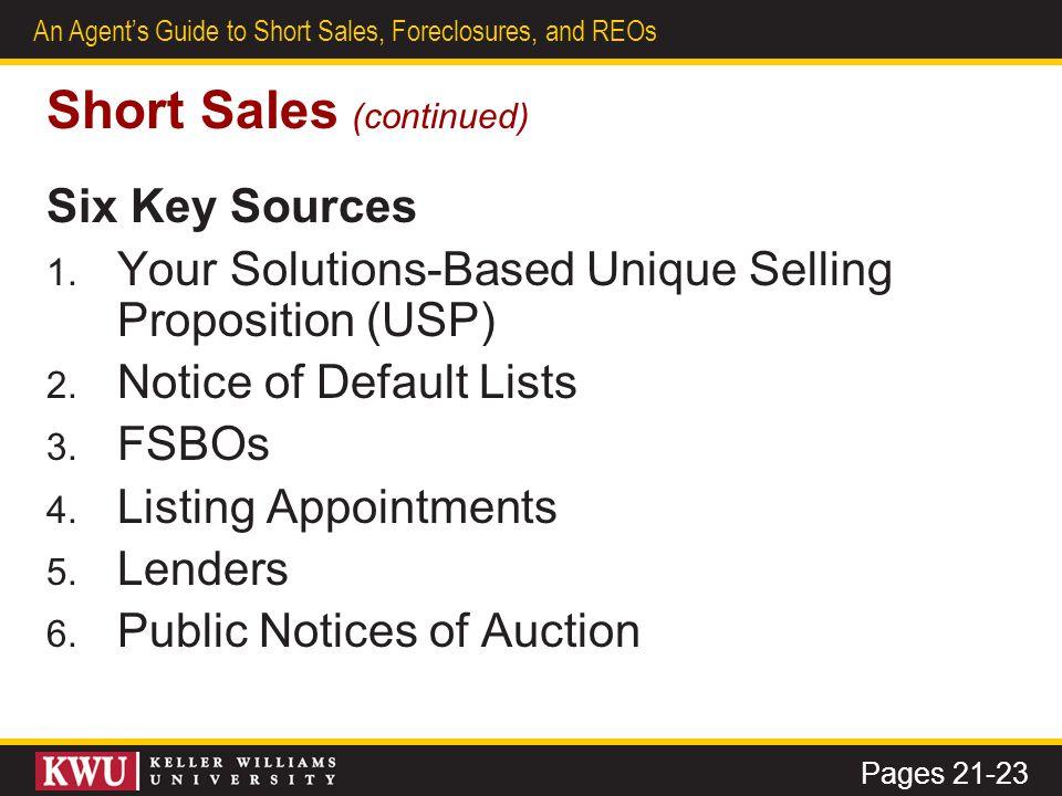 Short Sales (continued)
