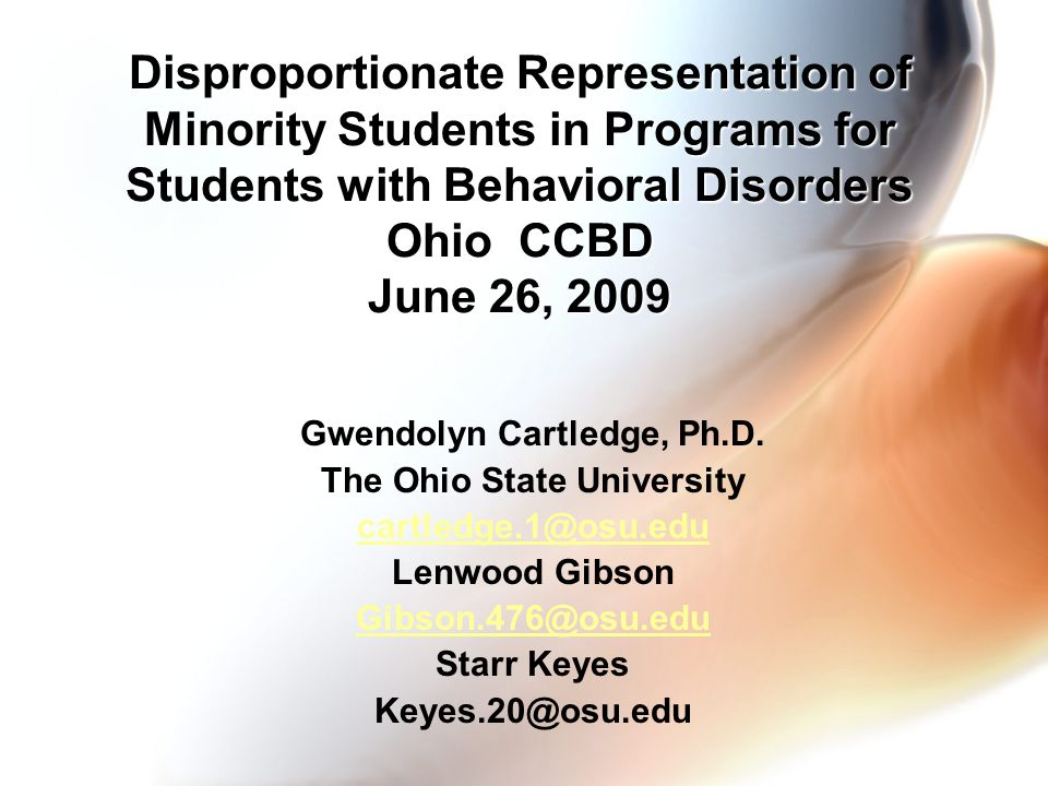 Gwendolyn Cartledge, Ph.D. The Ohio State University