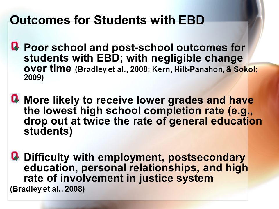 Outcomes for Students with EBD