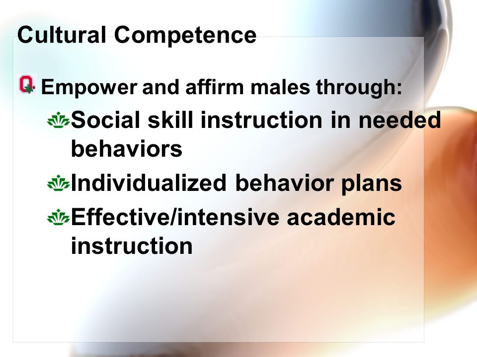 Social skill instruction in needed behaviors