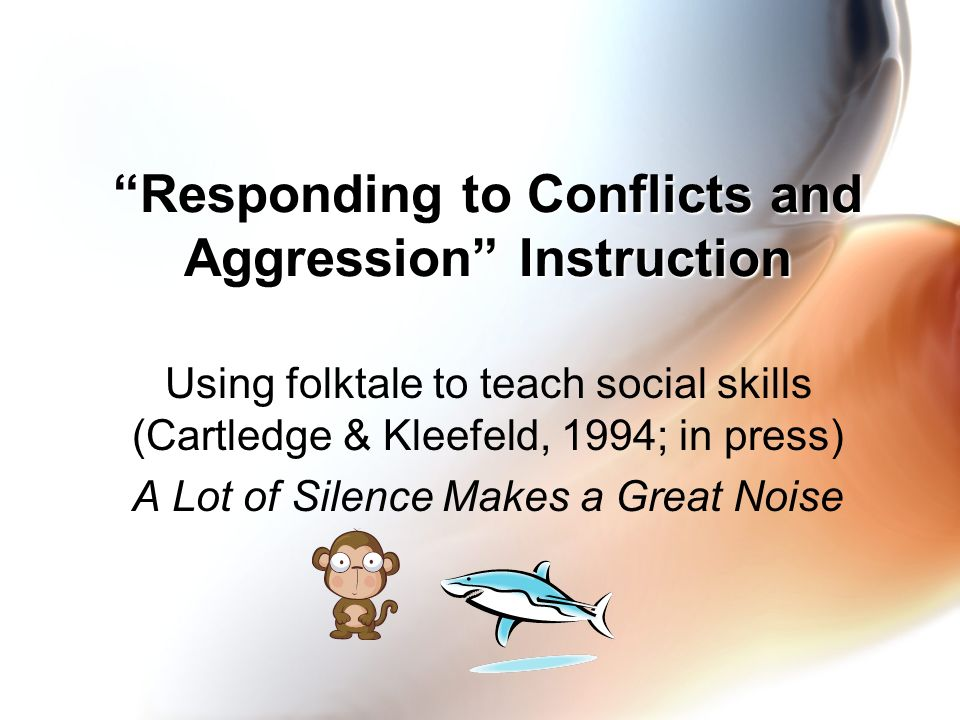 Responding to Conflicts and Aggression Instruction