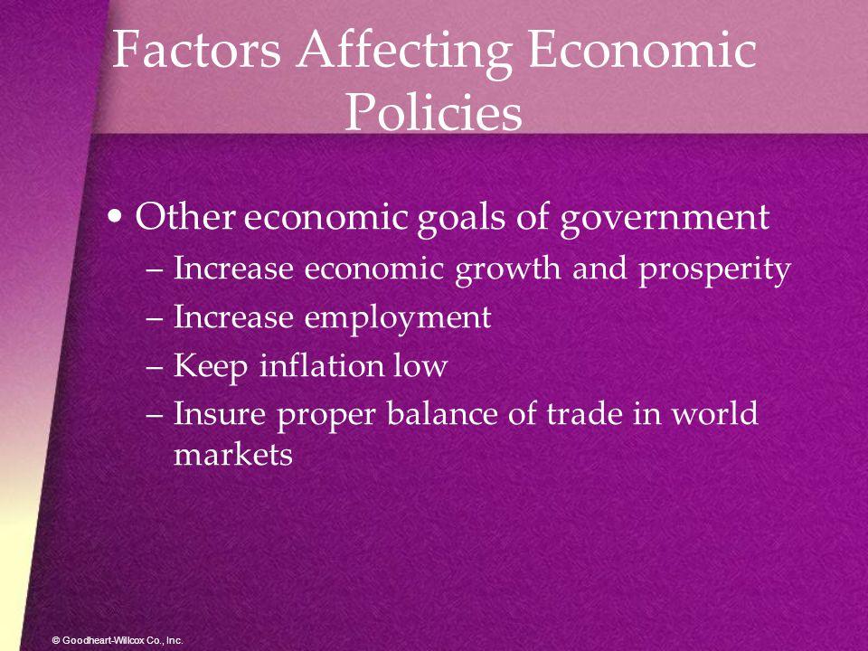 Factors Affecting Economic Policies