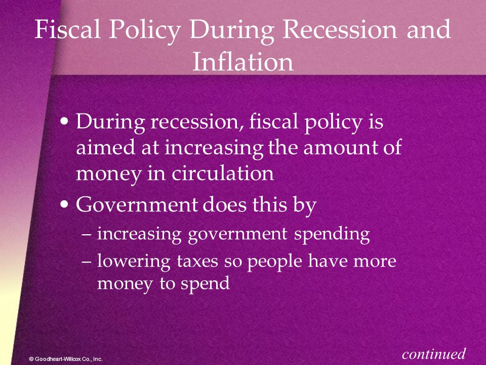 Fiscal Policy During Recession and Inflation