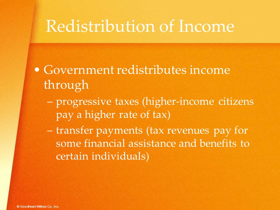 Redistribution of Income