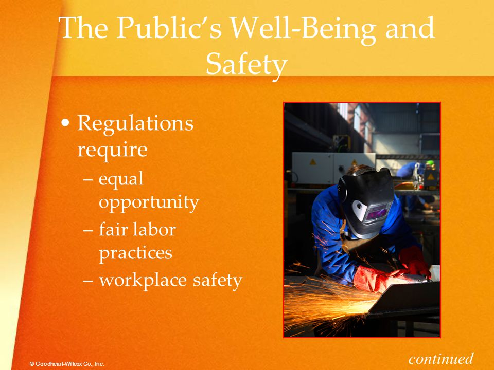 The Public's Well-Being and Safety