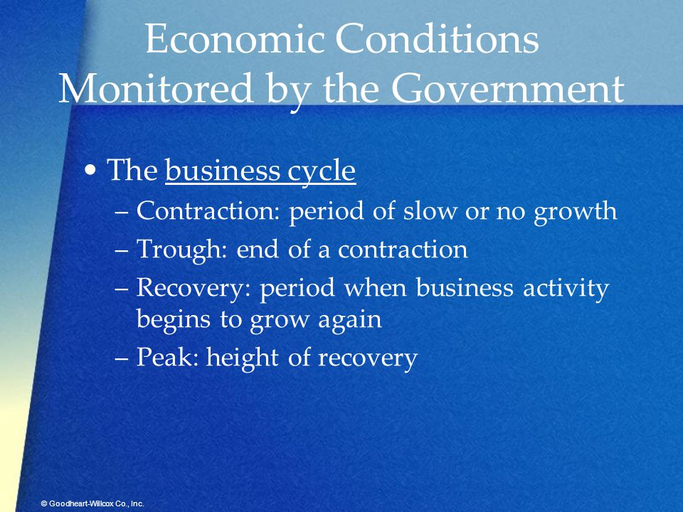 Economic Conditions Monitored by the Government