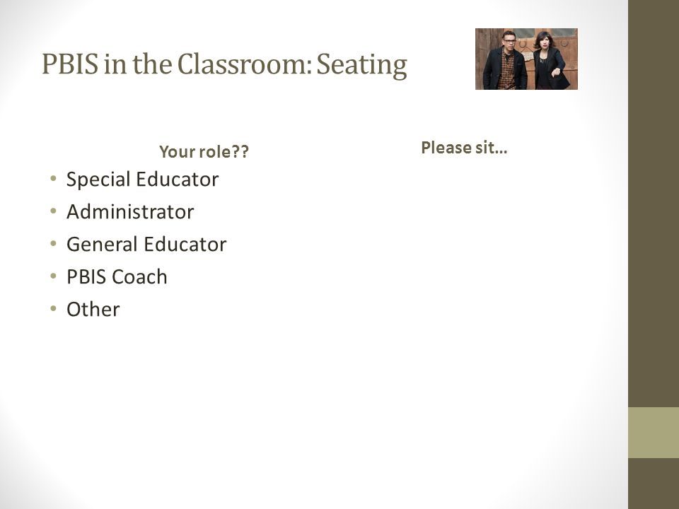PBIS in the Classroom: Seating