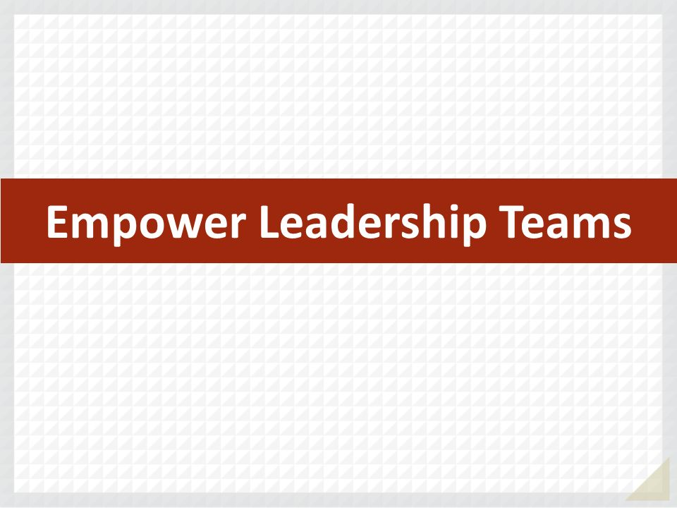 Empower Leadership Teams