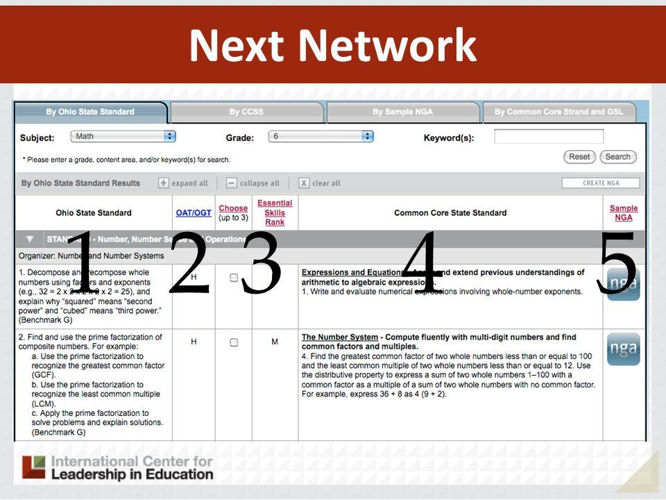 Next Network 1 2 3 4 5