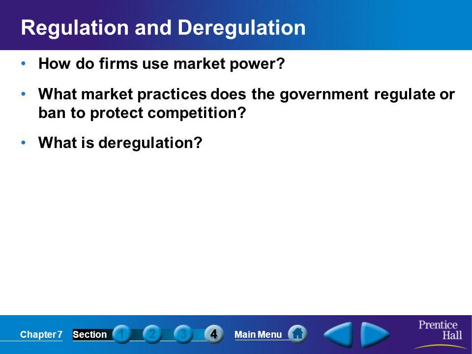 Regulation and Deregulation