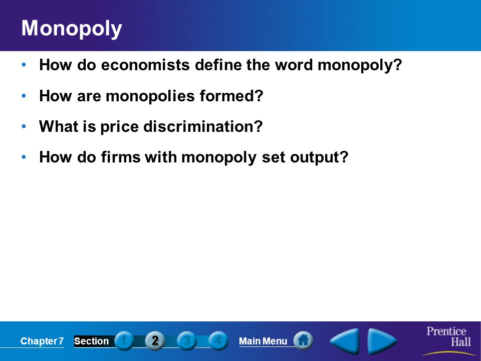 Monopoly How do economists define the word monopoly