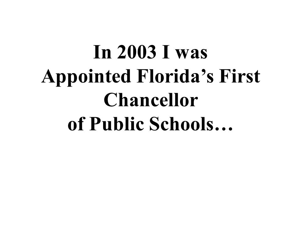 Appointed Florida's First