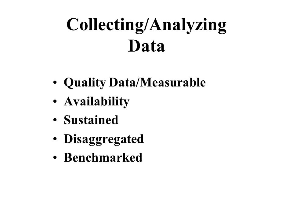 Collecting/Analyzing Data