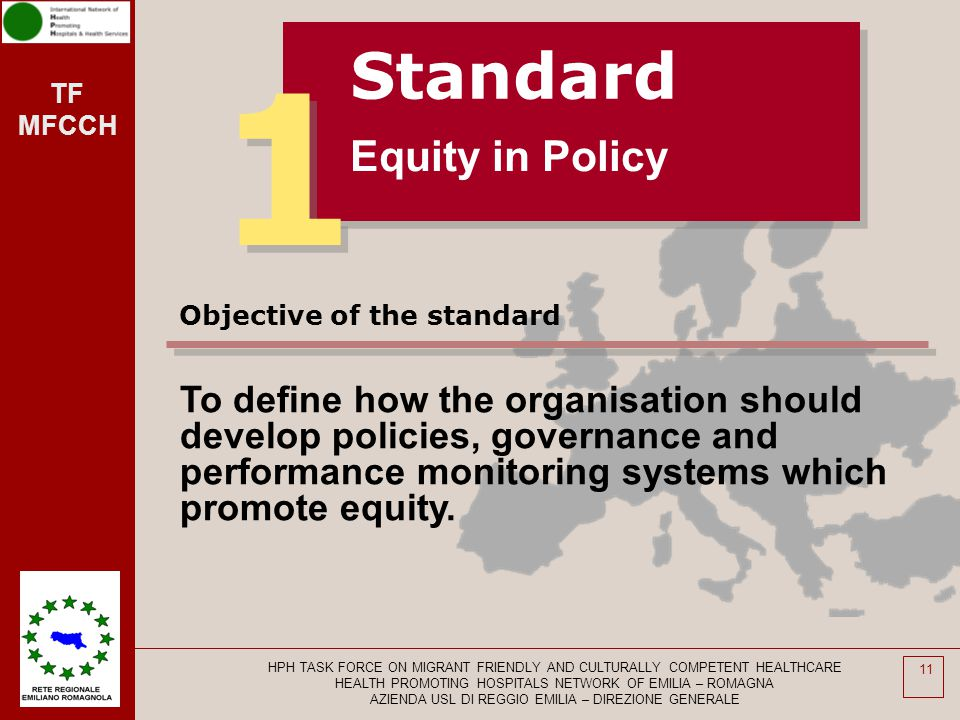 1 Standard Equity in Policy
