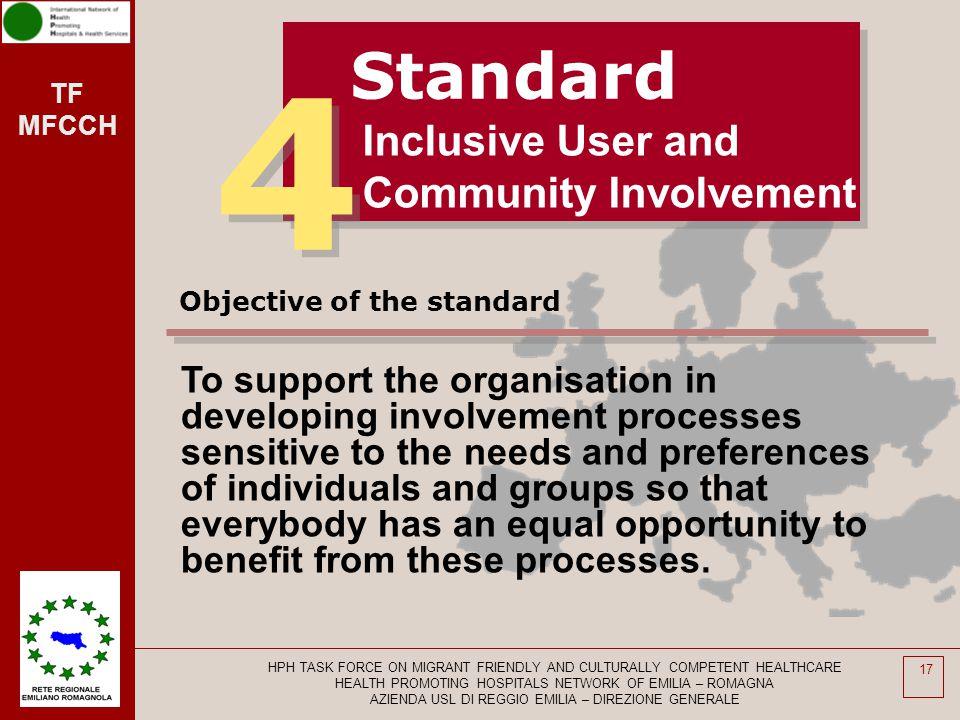 4 Standard Inclusive User and Community Involvement