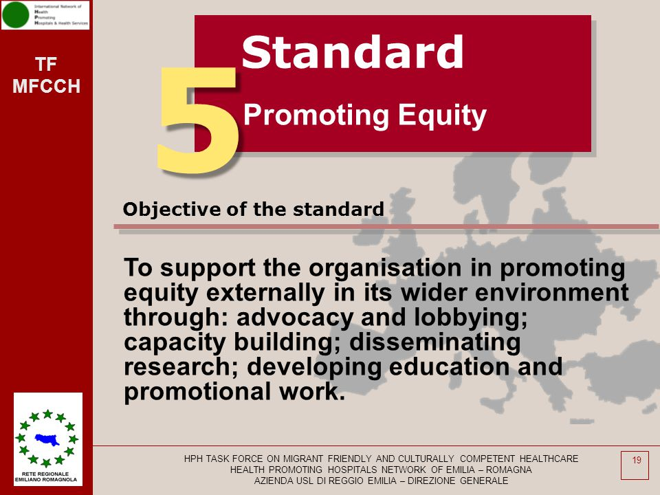 5 Standard Promoting Equity