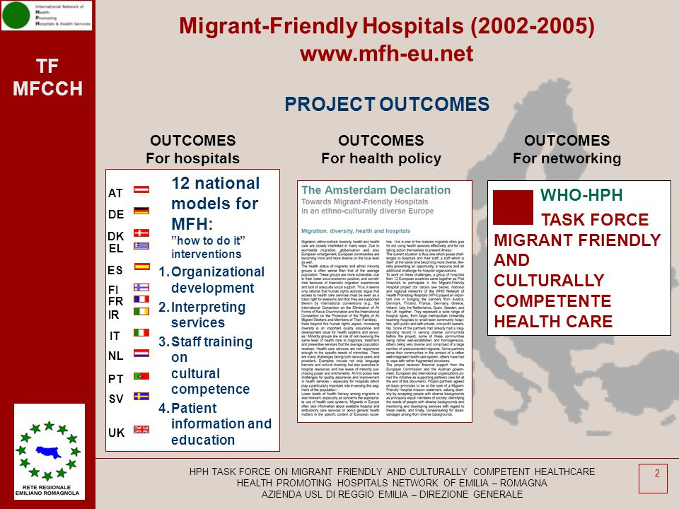 Migrant-Friendly Hospitals (2002-2005) www.mfh-eu.net PROJECT OUTCOMES
