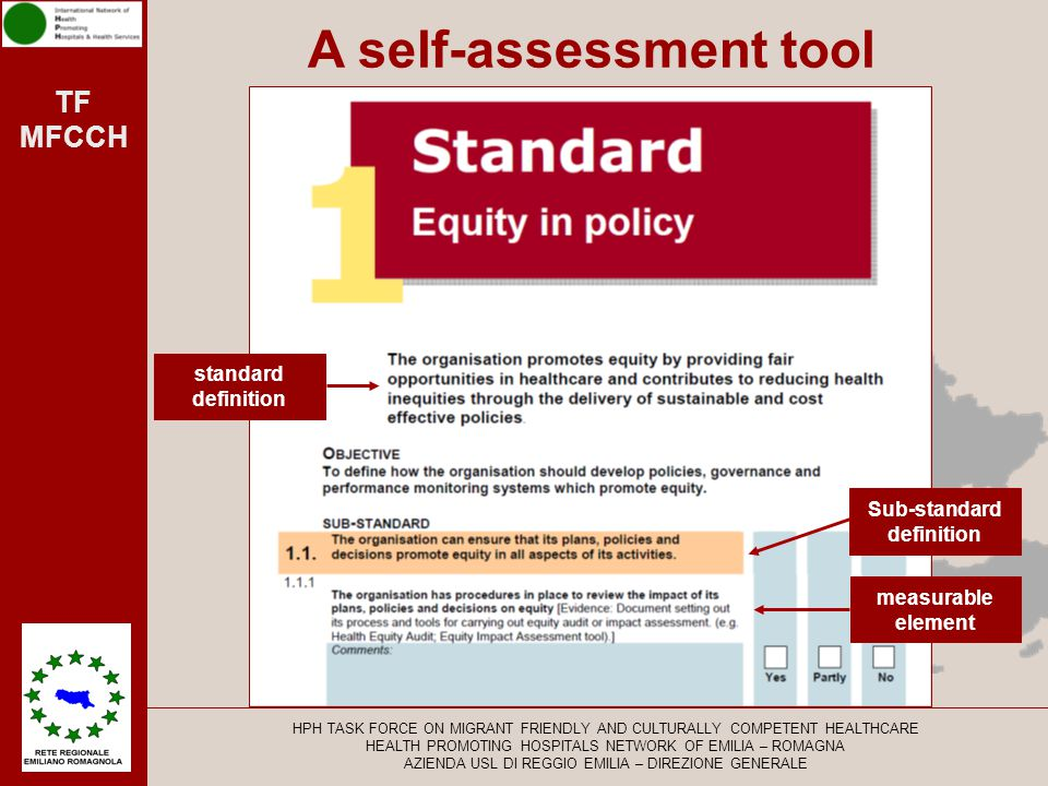 A self-assessment tool