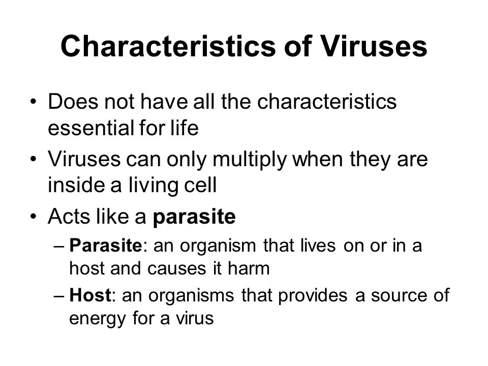 Characteristics of Viruses