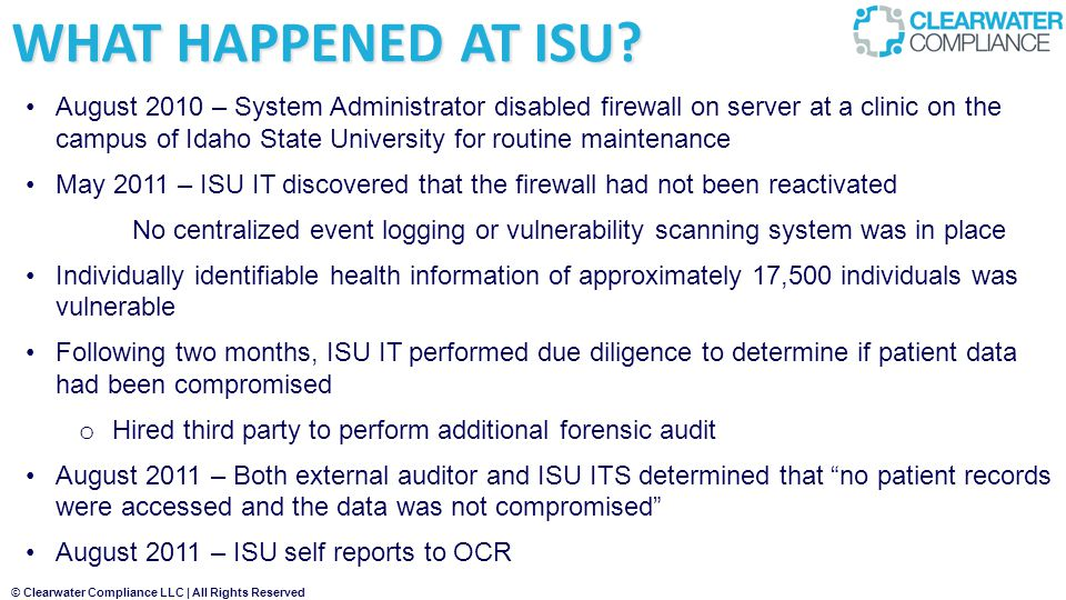 WHAT HAPPENED AT ISU
