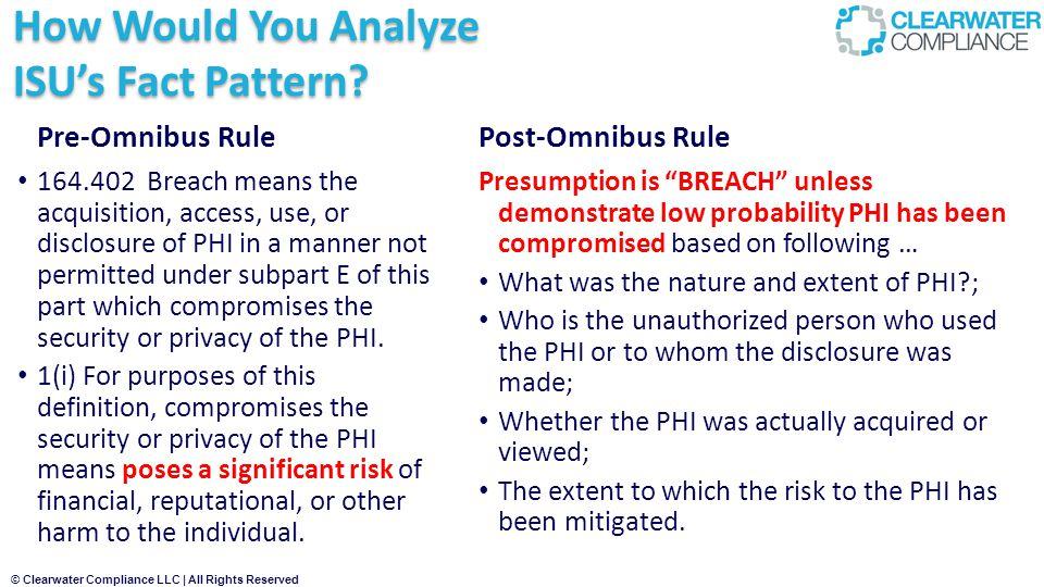 How Would You Analyze ISU's Fact Pattern