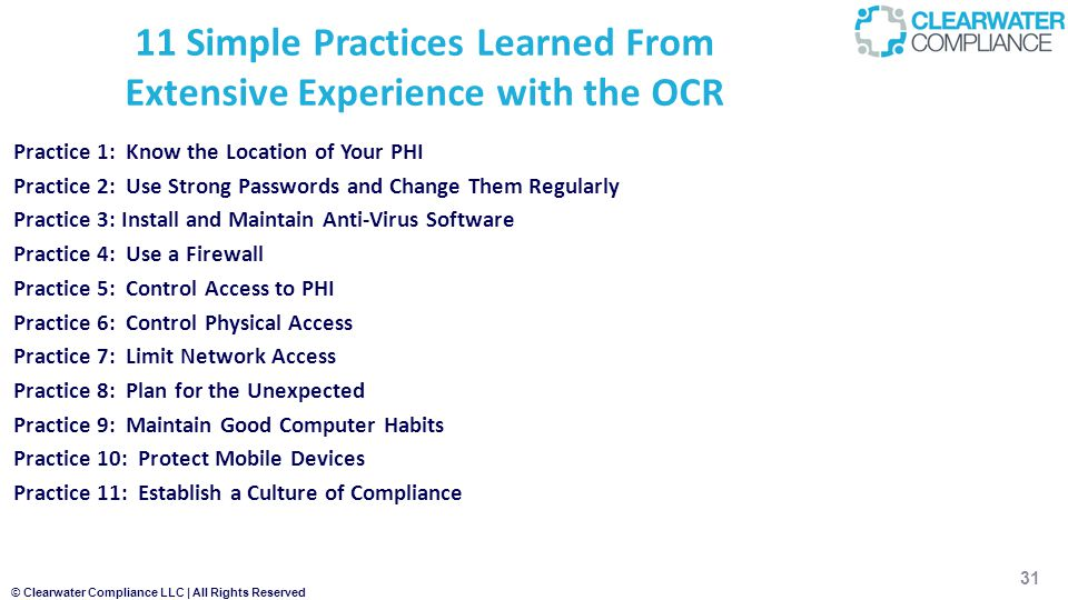 11 Simple Practices Learned From Extensive Experience with the OCR