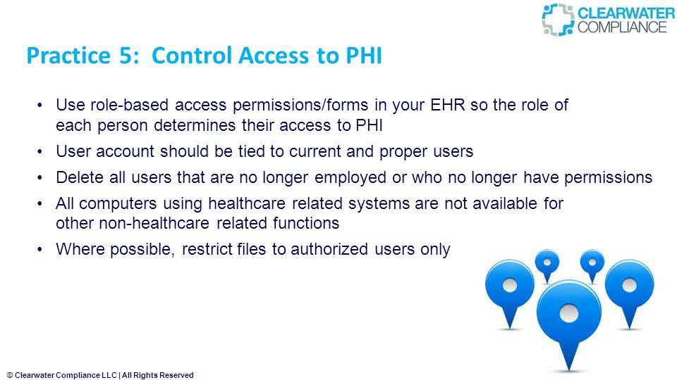 Practice 5: Control Access to PHI