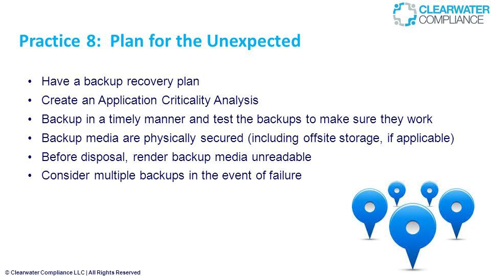 Practice 8: Plan for the Unexpected