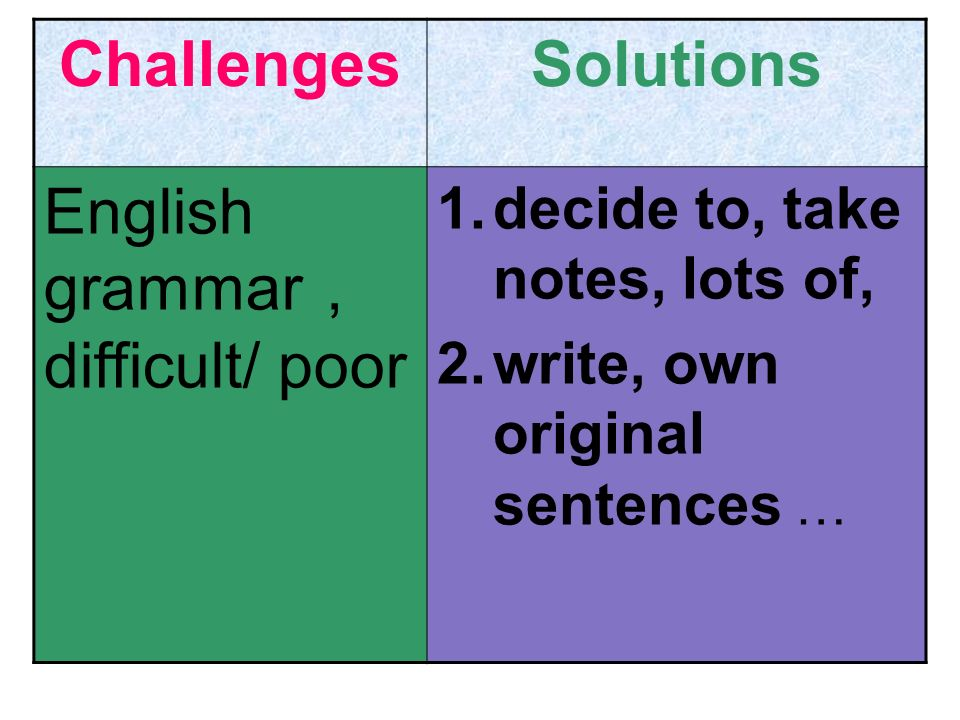 English grammar, difficult/ poor