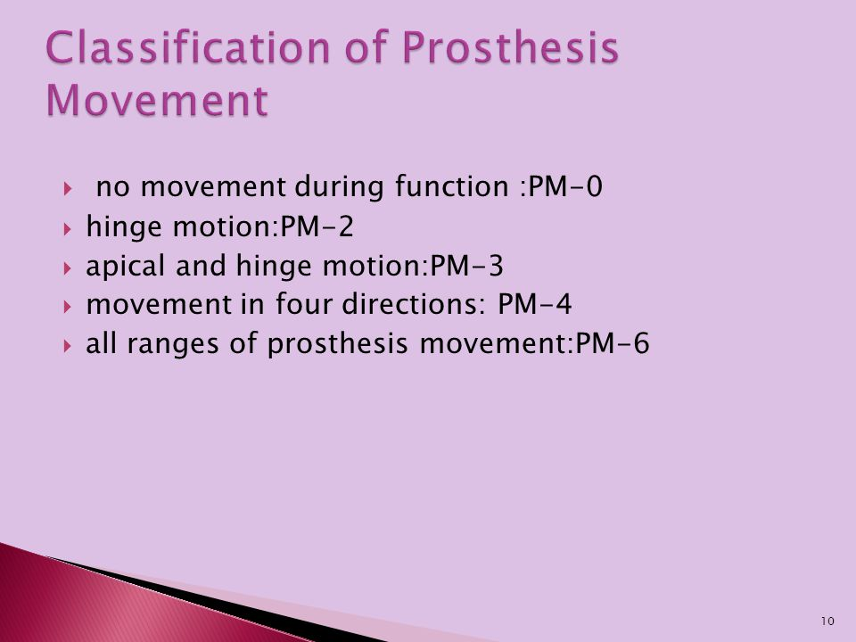 Classification of Prosthesis Movement