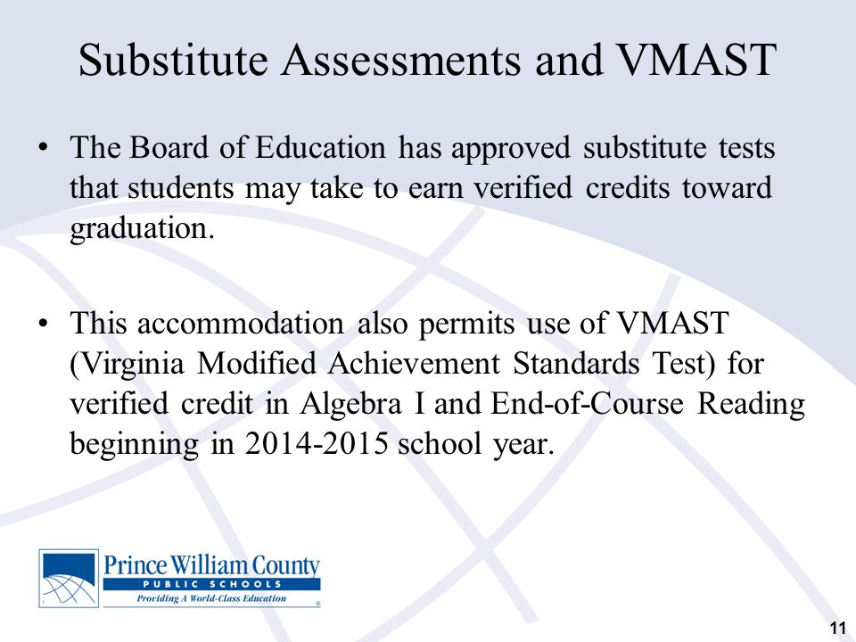 Substitute Assessments and VMAST