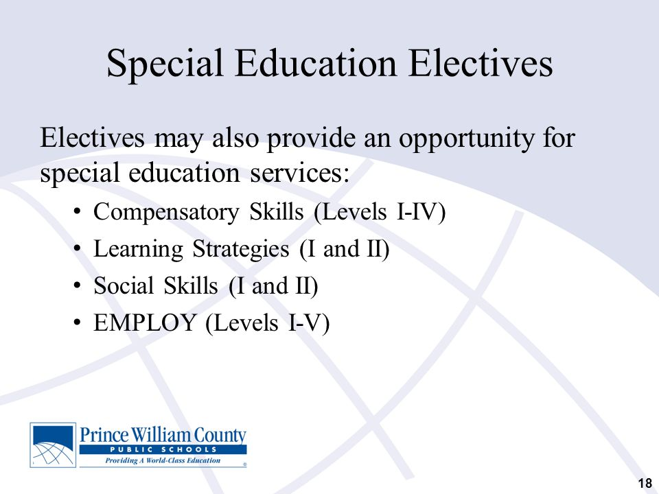 Special Education Electives