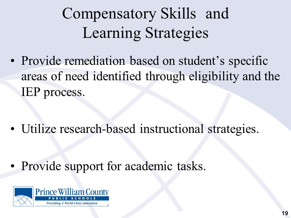 Compensatory Skills and Learning Strategies