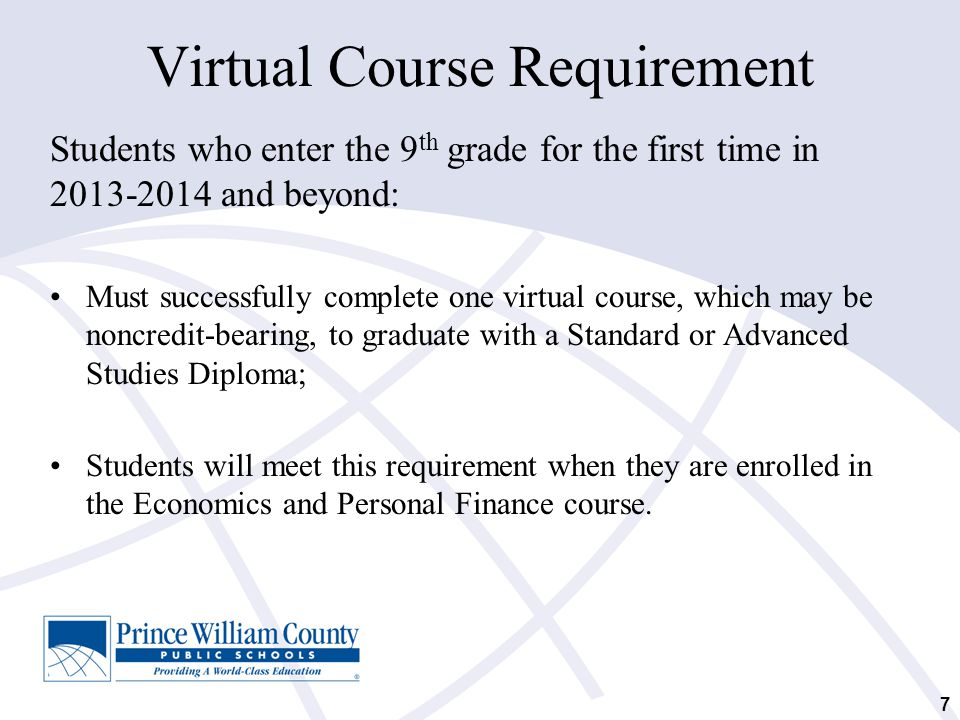 Virtual Course Requirement