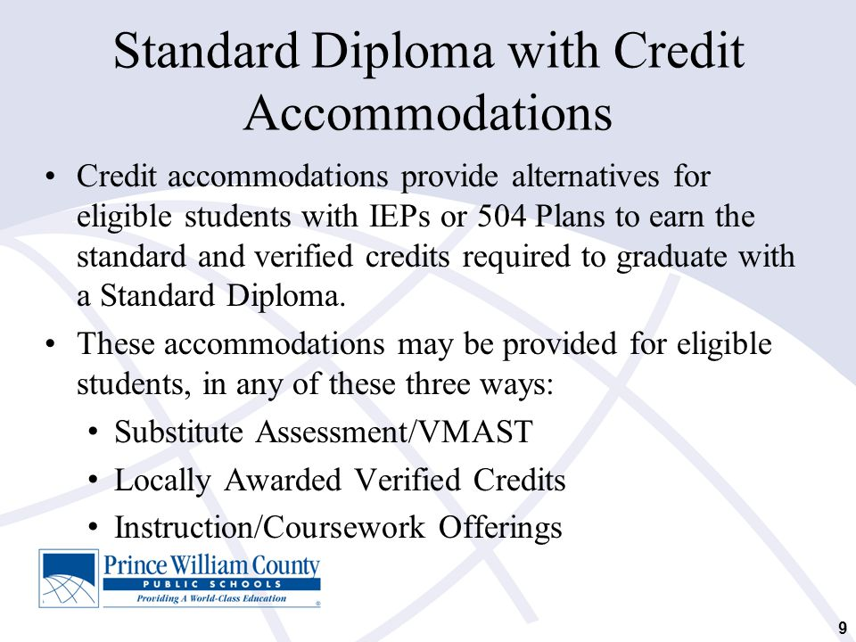 Standard Diploma with Credit Accommodations