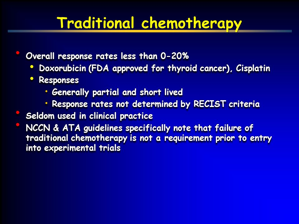 Traditional chemotherapy