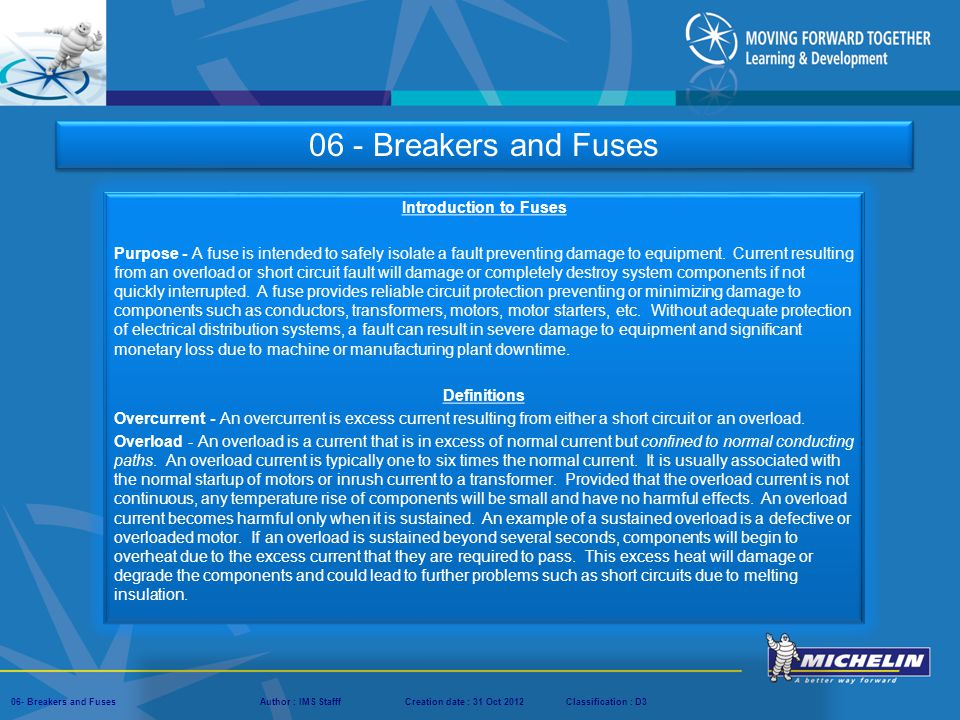 06 - Breakers and Fuses Introduction to Fuses