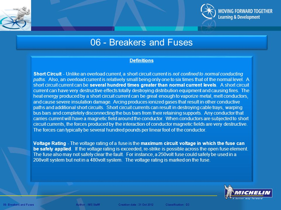 06 - Breakers and Fuses Definitions