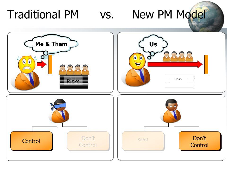 Traditional PM vs. New PM Model