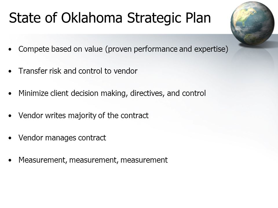 State of Oklahoma Strategic Plan