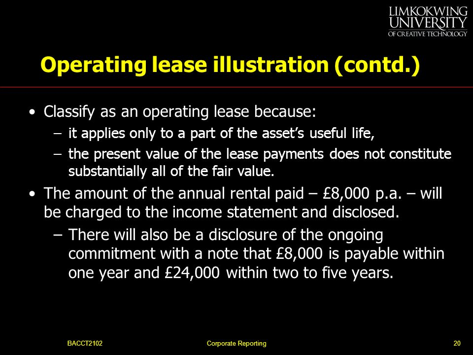 Operating lease illustration (contd.)