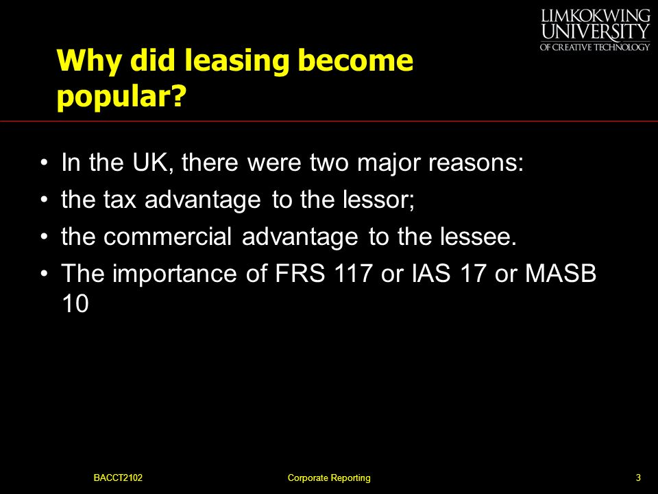 Why did leasing become popular