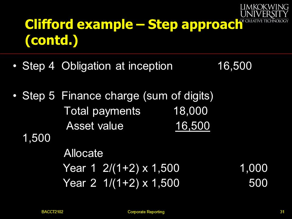 Clifford example – Step approach (contd.)