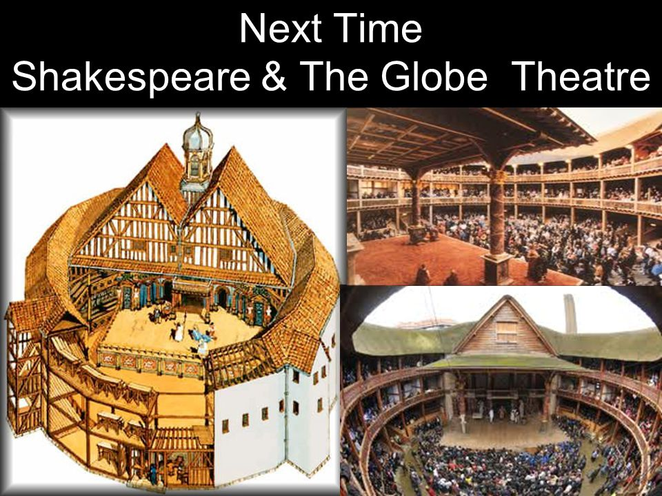 Next Time Shakespeare & The Globe Theatre