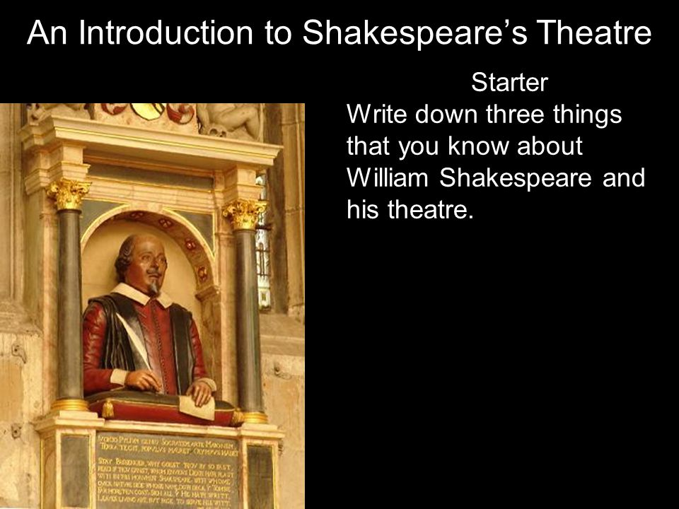 An Introduction to Shakespeare's Theatre