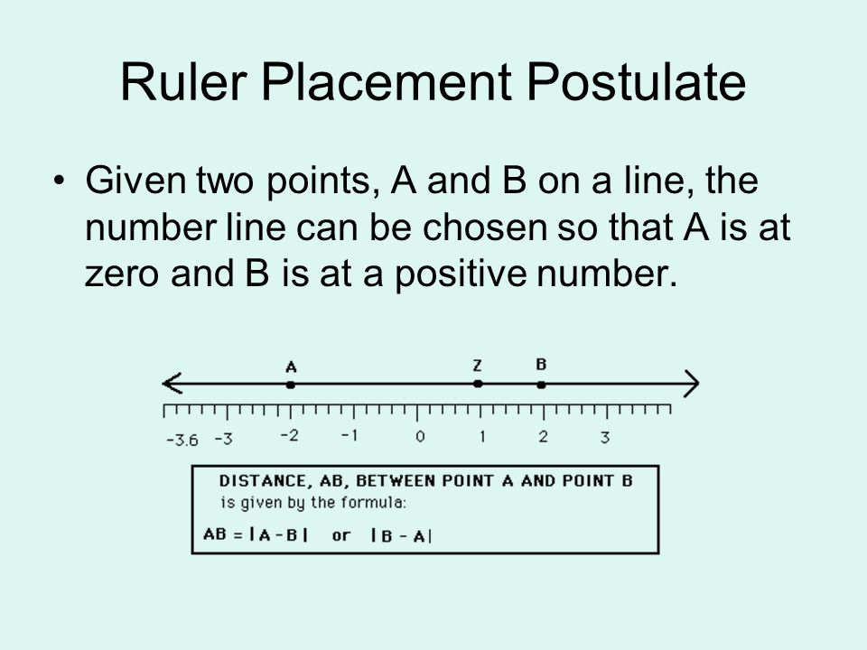 Ruler Placement Postulate