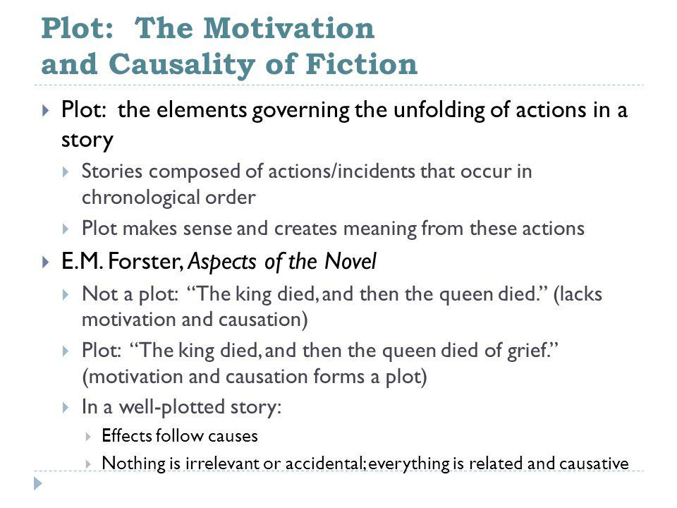 Plot: The Motivation and Causality of Fiction