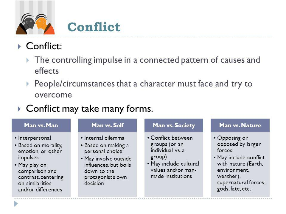 Conflict Conflict: Conflict may take many forms.