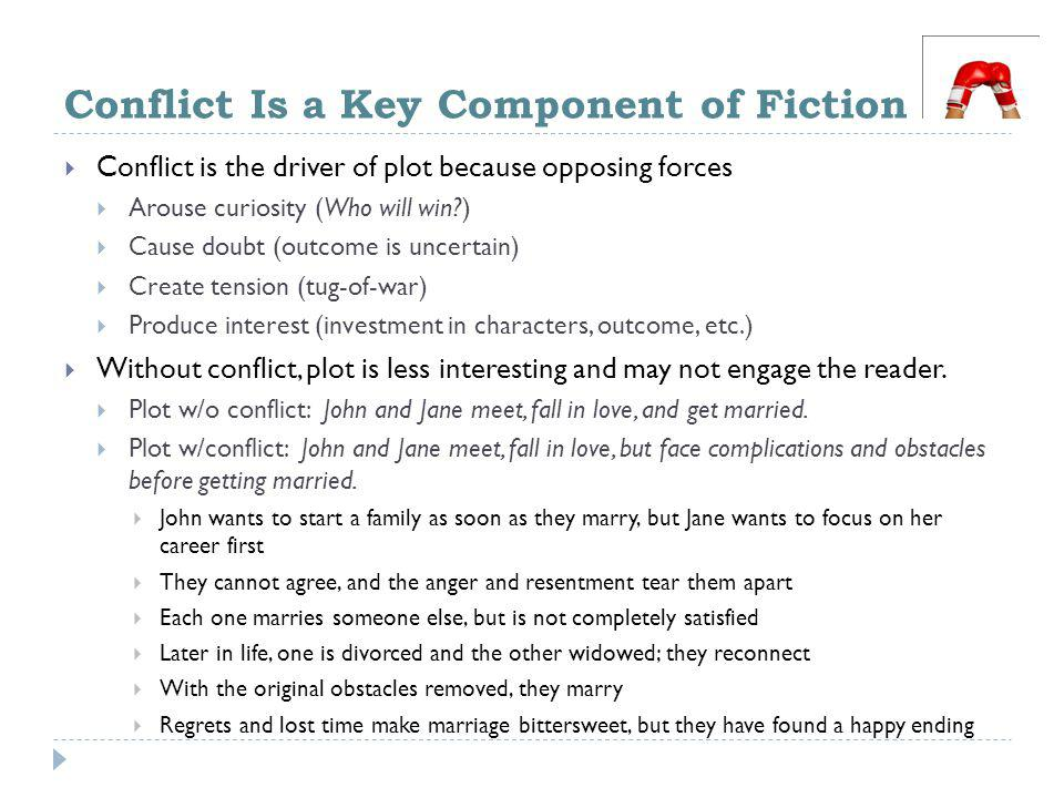 Conflict Is a Key Component of Fiction